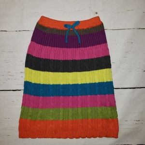Children Place 6X/7 mutl-colored sweater skirt